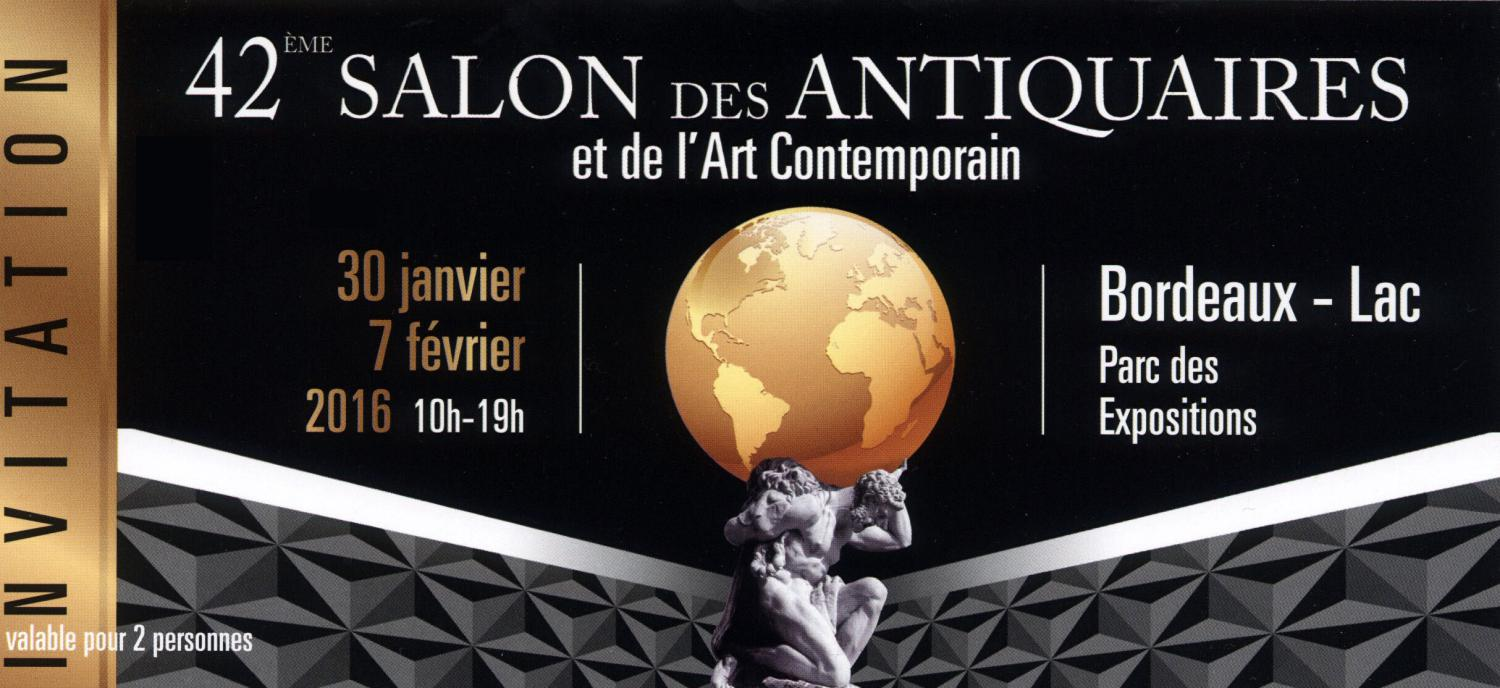 Salon antiquaires et art contemporain, Bordeaux 2016